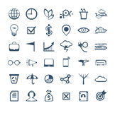 Business people icons. Management, human resources, marketing Stock Photos