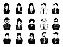 Business people icons set Stock Photo