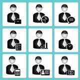 Business people icons Royalty Free Stock Photo