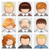 Business people icons. Set of avatars and user icons Royalty Free Stock Images