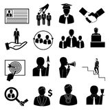 Business people icons set Royalty Free Stock Images