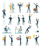 Business people icons. Set with business people icons flat design,  on white background Stock Photos