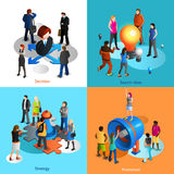 Business People Icons Set Stock Photos