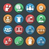 Business People Icons Set Royalty Free Stock Photos