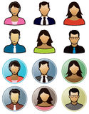 Business People Icons Royalty Free Stock Photos