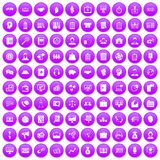 100 business people icons set purple. 100 business people icons set in purple circle isolated on white vector illustration vector illustration