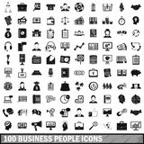 100 business people icons set, simple style. 100 business people icons set in simple style for any design vector illustration Royalty Free Stock Photography