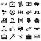 Business people icons set, simple style. Business people icons set. Simple set of 25 business people vector icons for web isolated on white background Royalty Free Stock Photos