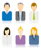 Business people icons Stock Images