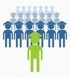 Business_people_icons_students Image stock