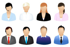 Business People Icons. Vector. Set Of Business People Icons, Isolated On White vector illustration