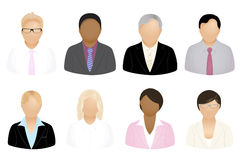 Business People Icons. Vector. Set Of Business People Icons, Isolated On White royalty free illustration