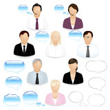 Business People Icons. Vector stock illustration