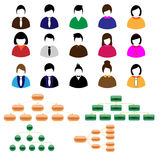 Business people icons vector Stock Images