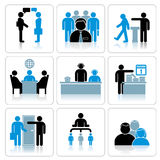 Business People Icons. Vector Set Royalty Free Stock Photography