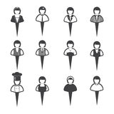 Business people icons, Women Stock Photography