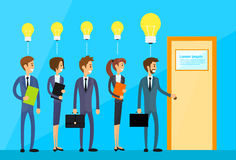 Business People Idea Concept Light Bulb Hold Door Royalty Free Stock Photography