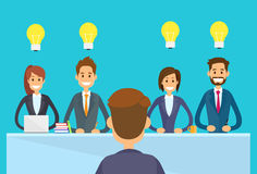 Business People Idea Concept Light Bulb Sitting Royalty Free Stock Image