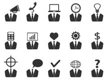Business people idea icons set vector illustration