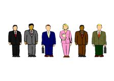 Business people illustration. With men and woman Royalty Free Stock Photography
