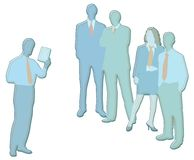 Business people illustration. Team of business people having meeting Stock Photography