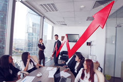 Business people and income growth Stock Image