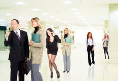 Business people indoors. Some business people are indoors royalty free stock image