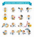 Business People Infographic Set #3 Stock Images