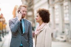 Business people in an informal conversation Stock Photography