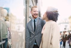 Business people in an informal conversation Stock Photos