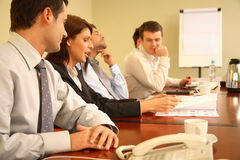 business people at informal meeting stock photography
