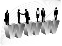 Business people and internet. Illustration of business people and internet Royalty Free Stock Photos
