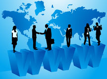 Business people and internet. Illustration of business people and internet Royalty Free Stock Image