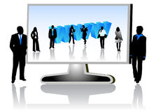 Business people and internet. Illustration of business people and internet Royalty Free Stock Photography