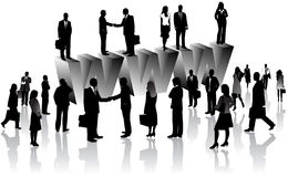 Business people and internet Stock Photography