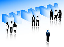 Business people and internet Stock Image