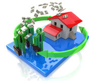 Business people invest in real estate royalty free stock images