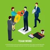 Business Teamwork Isometric Background stock illustration