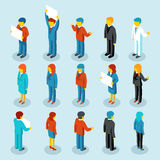 Business people isometric 3d vector figures Royalty Free Stock Images