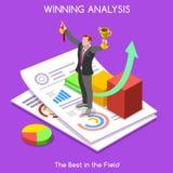Business 12 People Isometric Stock Image