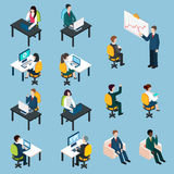 Business people isometric pictograms collection Royalty Free Stock Image