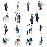 Business People Isometric Set Stock Photography