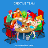 Business 10 People Isometric Royalty Free Stock Photo