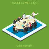 Business 02 People Isometric Royalty Free Stock Photography