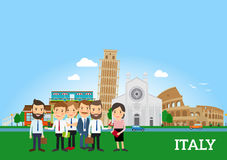 Business people in Italy Royalty Free Stock Photography
