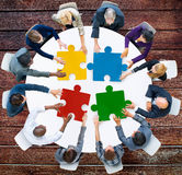 Business People Jigsaw Puzzle Collaboration Team Concept Royalty Free Stock Photography