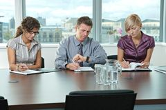 Business people at job interview Royalty Free Stock Photos