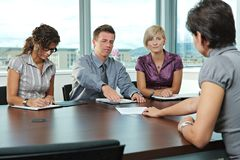 Business people at job interview Stock Photo
