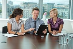 Business people at job interview Royalty Free Stock Photography