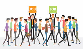 Business people and Job postings concept Royalty Free Stock Image